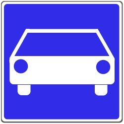 Schnellstraße: Das Verkehrszeichen 331.1 weist eine Straße als solch aus.