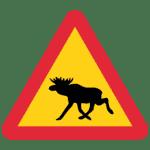 Schweden: Verkehrszeichen Achtung Elche