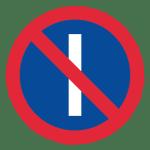 Schweden: Verkehrszeichen eingeschränktes Haltverbot an ungeraden Tagen