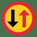 Schweden: Verkehrszeichen Gegenverkehr