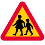 Schweden: Verkehrszeichen Achtung Kinder