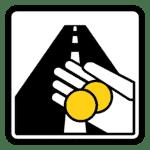 Schweden: Verkehrszeichen Mautstelle