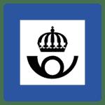 Schweden: Verkehrszeichen Postamt