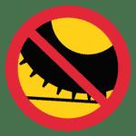 Schweden: Verkehrszeichen Achtung Verbot von Spikereifen