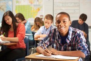 Wer sicher zur Schule kommt, kann dort auch fleißig lernen.
