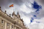 Die Flagge in Spanien