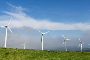 Relativ viel Strom wird im Vergleich mittlerweile durch Windkraft erzeugt.