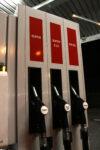 Zapfsäule für Super und Diesel an der Tankstelle