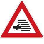 Tschechien: Verkehrszeichen Achtung Nebel