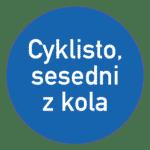 Tschechien: Verkehrszeichen Radfahrer absteigen