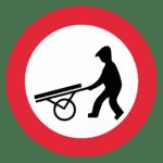 Tschechien: Verkehrszeichen Handwagen verboten