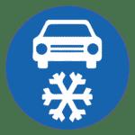 Tschechien: Verkehrszeichen Winterreifen- oder Schneekettenpflicht