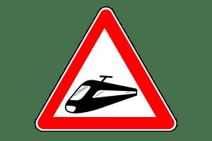 Ab dem Zeichen 151 ist das Überholen vor einem Bahnübergang nicht erlaubt.