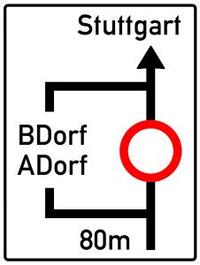 Die Planskizze stellt die Umleitungsstrecke vereinfacht dar.