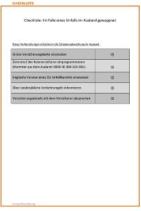 Auf einen Unfall im Ausland vorbereiten: Checkliste