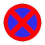 Verkehrsschild Halten verboten