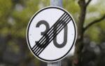 Verkehrzeichen Tempo 30 aufgehoben