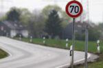 Verkehrszeichen Tempo 70