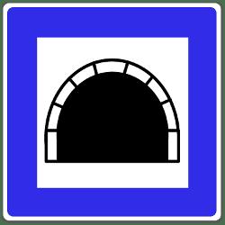 """Das Verkehrszeichen """"Tunnel"""" gibt indirekt auch gewisse Verhaltensweisen vor."""