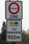Verkehrszeichen für Umweltzone und Umweltplakette