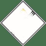 Verschneite Verkehrsschilder: Ende der Vorfahrtstraße