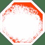 Verschneite Verkehrsschilder: Stopp-Schild