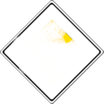Verschneite Verkehrsschilder: Vorfahrtstraße