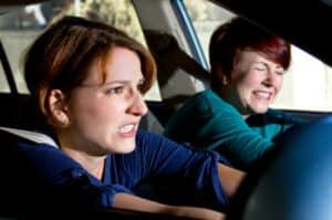 Bei einer Vollbremsung sind Tiere im Auto einer besonderen Gefahr ausgesetzt