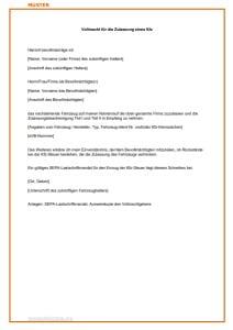 Vollmacht Kfz-Zulassung: Muster