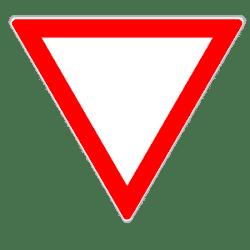 Vorfahrt achten: Dieses Schild gibt an, dass Sie anderen Verkehrsteilnehmern die Vorfahrt lassen müssen.