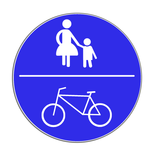VZ 240: Gemeinsamer Rad- und Gehweg