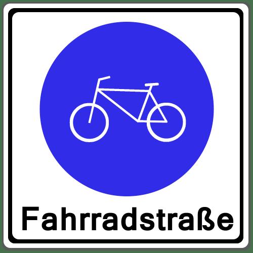 VZ 244.1: Beginn einer Fahrradstraße