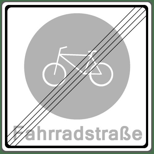 Zeichen 244.2: Ende einer Fahrradstraße