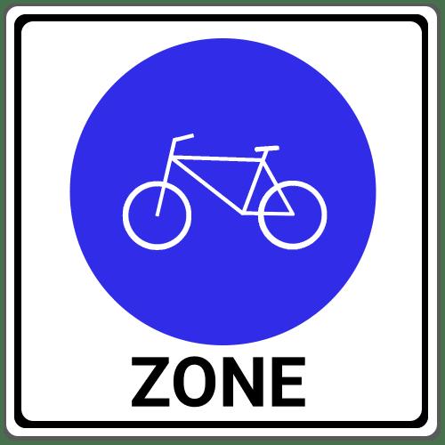 VZ 244.3: Beginn einer Fahrradzone