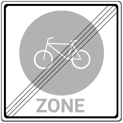 Zeichen 244.4: Ende einer Fahrradzone
