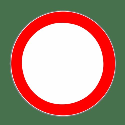 VZ 250: Verbot für Fahrzeuge aller Art