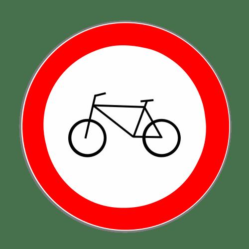 VZ 254: Verbot für Radverkehr