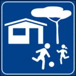 Verkehrszeichen in Italien: Wohngebiet