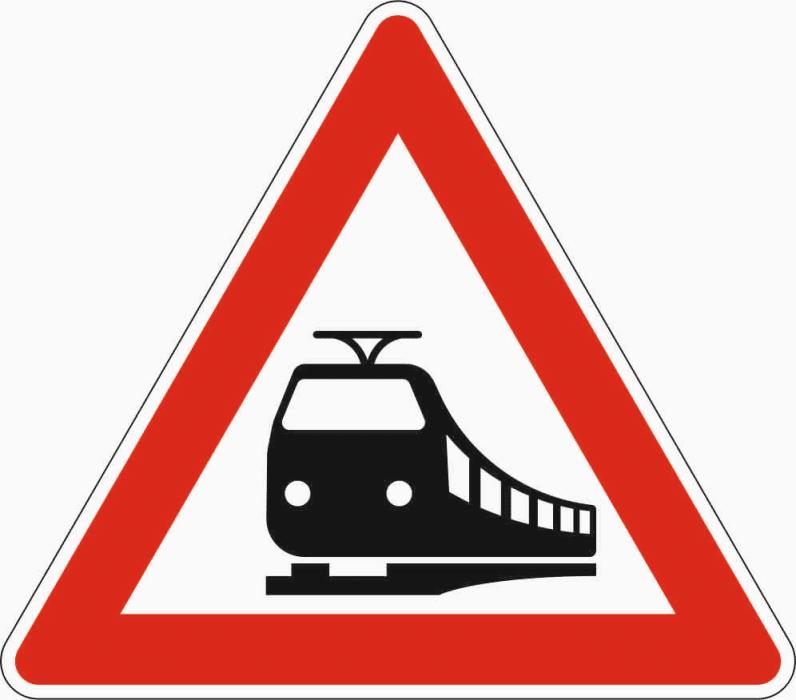 Verkehrszeichen 151: Ankündigung Bahnübergang