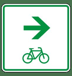 Zwischenwegweiser zum Radwanderweg